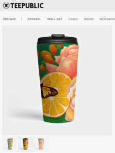 hisame artwork teepublic merchandise tank travel mug flowers nature illustration digital art print