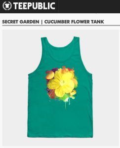 hisame artwork teepublic merchandise tank top cucumber flower nature macro photography artprint